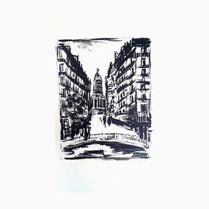 Maurice de Vlaminck - Paris 'Souflot Street - Gravure à l'Eau-Forte 1927