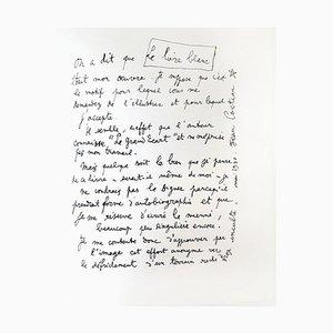 Lithographie 1930 par Jean Cocteau - Explications