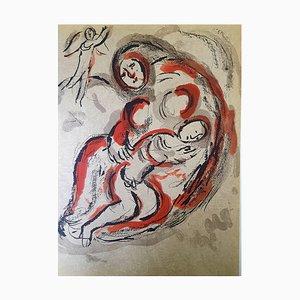 Lithographie de Marc Chagall - La Bible - Hagar in the Desert - Lithographie Originale