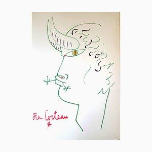 Litografia originale 1961 di Jean Cocteau - Marine Mountains