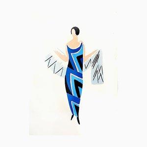 Sonia Delaunay - Living Painting - Colour Pochoir 1969