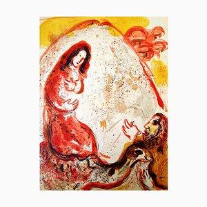 Marc Chagall - Die Bibel - Rachel - Original Lithographie 1960