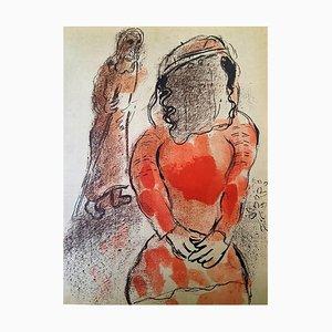 Lithographie de Marc Chagall - The Bible - Tamar - Original Lithograph 1960