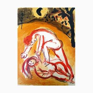 Marc Chagall - Die Bibel - Kain und Abel - Original Lithographie 1960