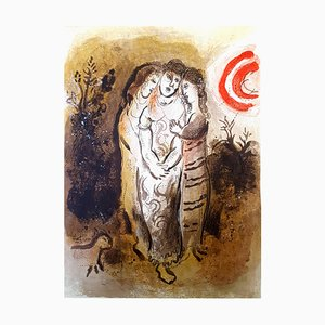 Marc Chagall - Die Bibel - Naomi und ihre Schwiegertöchter - Original Lithografie 1960