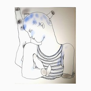 Jean Cocteau - White Book - Original Handcolored Lithograph 1930