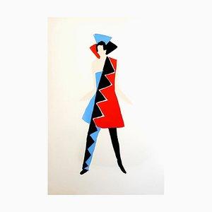 Living Painting - Original Color Pochoir 1969