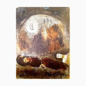 Marc Chagall - The Bible - Ruth at the feet of Boaz - Original Lithograph 1960