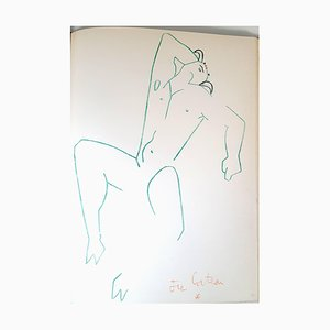 Jean Cocteau - Marine Mountains - Original Lithograph 1961