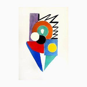 Peinture Living Painting Couleur Pochoir 1969
