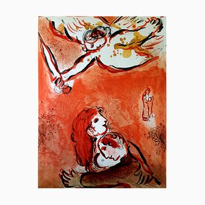 Lithographie de Marc Chagall - The Bible - The Maid of Israel