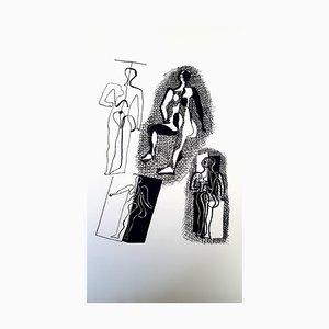 Pablo Picasso (después) Helene Chez Archimede - Wood Engraving 1955