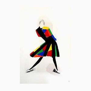 Living Painting - Colour Pochoir 1969