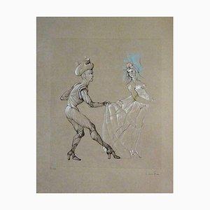 Incisione Leonor Fini - Donna - Incisione originale firmata e numerata, anni '60