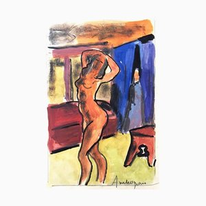 Pierre Ambrogiani - The Model - Signed Painting Circa 1960