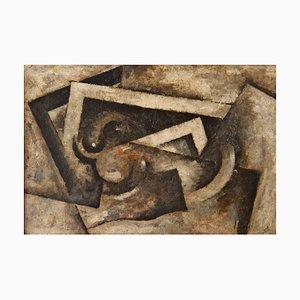 Robert Marc - Untitled - Huile Signée sur Toile 1950s