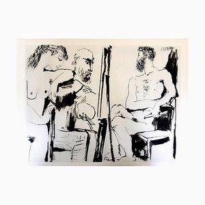 d'après Pablo Picasso - The Human Comedy - Heliogravure 1954