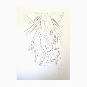 Salvador Dali - Venus, Mars and Cupidon - Handsigned Etching 1971