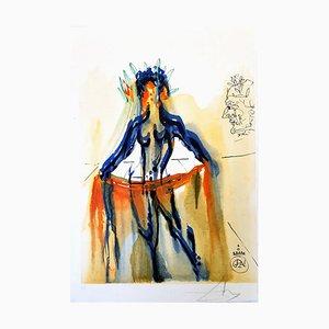 Salvador Dali - The Art of Loving - Handsignierter Holzschnitt 1979