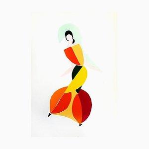 Peinture Sonia Delaunay - Living Painting - Original Pochoir 1969