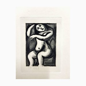 Incisione Georges Rouault - Incisione originale - Ubu the King 1929