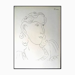 Henri Matisse (After) - Lithograph - Woman with Flowers in Her Hair 1943