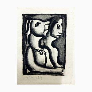 Georges Rouault - Original Engraving - Ubu the King 1929