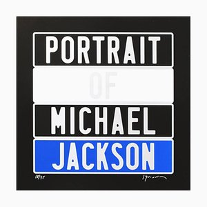 Joel Duccoroy - ''Portrait of Michael Jackson'', Signed Serigraphy