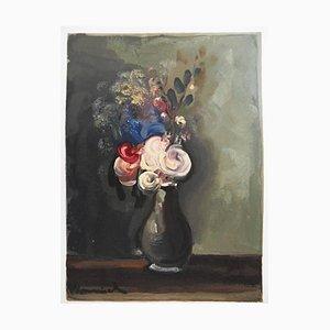 after Maurice de Vlaminck - Les Roses Pompon
