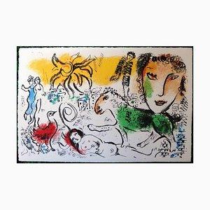 Marc Chagall - The Green Horse - Original Lithograph 1973