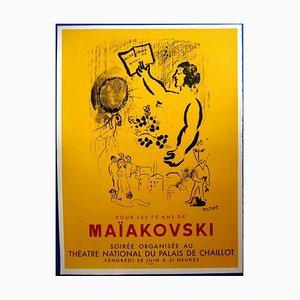 Marc Chagall - 70 Years of Maiakovsky - Original 1960s Poster 1963