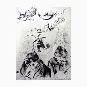 Marc Chagall - For the Lost Souls - Original Etching 1950