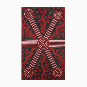 Sandy Hunter Petyarre - Aboriginal Art Painting 1994
