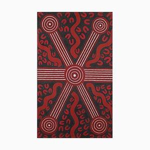 Sandy Hunter Petyarre - Aboriginal Art Painting 1994