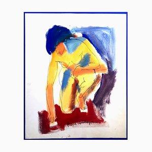 Pierre Ambrogiani - Modèle - Peinture Signée Circa 1970