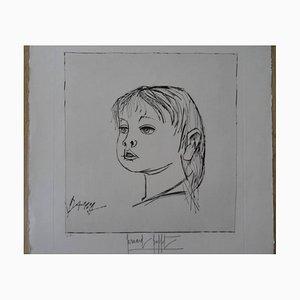 Bernard Buffet - Dany - Original Signed Lithograph 1966