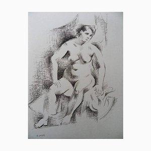 André Lhote - Modèle assis - Signierte Originale Zeichnung