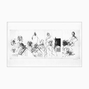 Claude Weisbuch - De Principatibus - Hand-Signed, Drypoint Engraving