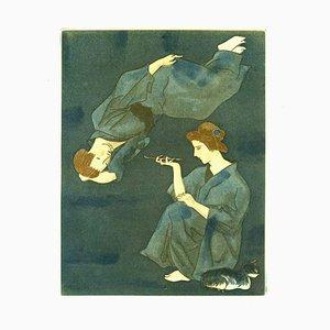 Tsuguharu Foujita - '' Mme. Prune's Young Life '', 10 Aquatintes 1926