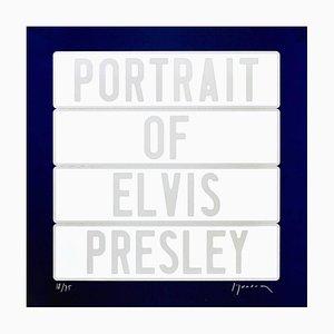 Joel Duccoroy - ''Portrait of Elvis Presley'', Signed Serigraphy