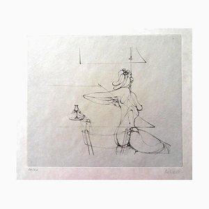 Hans Bellmer - She Rises - HandSigned Etching 1973