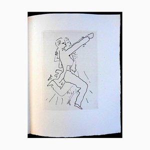 Jean Cocteau - Le Bal du Comte d'Orgel - Mappe mit 34 Originalen Radierungen von 1953