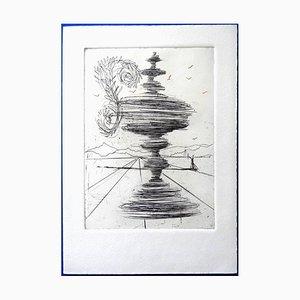 Salvador Dali - The Fountain - Original Etching 1966