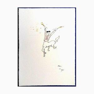 Lithographie Jean Cocteau - The Picador - 1961
