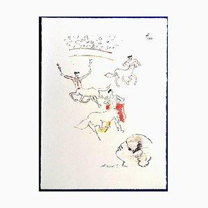 Jean Cocteau - The Arena - 1965 Originale Lithographie