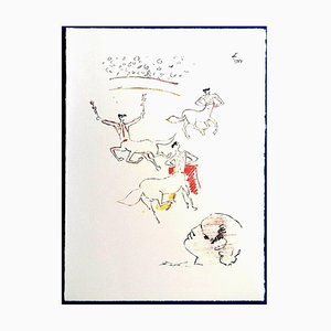 Jean Cocteau - The Arena - Litografia originale, 1961