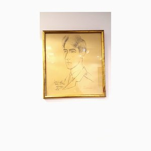 After Pablo Picasso - HandSigned Reproduction - Portrait of Jean Cocteau 1916