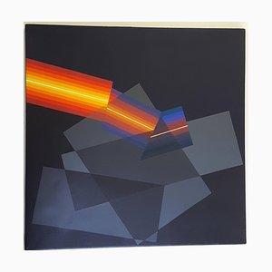 Horacio Garcia Rossi - Color claro - Original Signed Oil on Canvas 2008