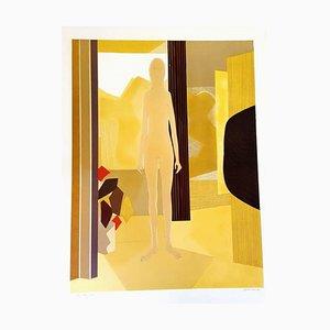 Lithographie Originale Signée André Minaux - Ecole de Paris Circa 1970