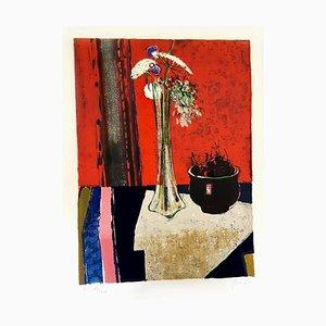 René Lenig - Original Handsignierte Lithographie - Ecole de Paris Circa 1960